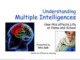 Multiple Intelligence - The Center for Effective Learning