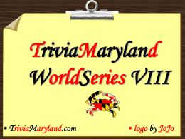 WS IV - TriviaMaryland.com
