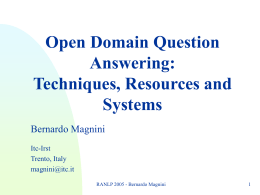Question Answering at TREC-10
