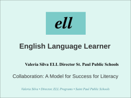 English Language Learners - OSEP Project Directors' …