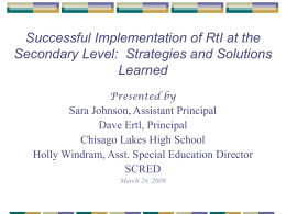 RtI at Chisago Lakes High School