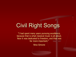 History of Protest Songs
