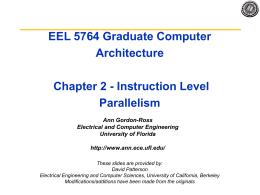EECS 252 Graduate Computer Architecture Lec XX