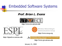Embedded Signal Processing Laboratory at UT Austin