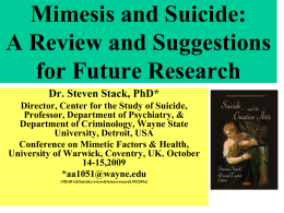 Media Effects on Suicide: A Meta