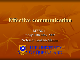 Effective communication - Suicide Prevention Studies