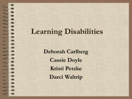 Learning Disabilities - NIU College of Education