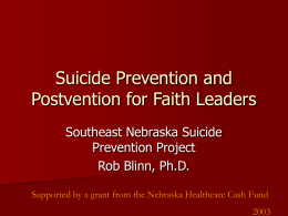 Southeast Nebraska Suicide Prevention Project