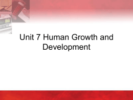 Unit 7 - Human Growth and Development