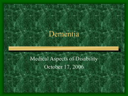 Dementia - University of Florida
