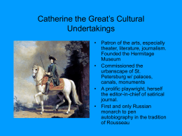PowerPoint Presentation - Peter the Great (1682