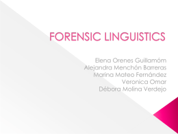 Main Branches of Forensic Linguistics