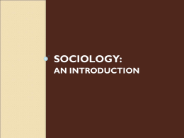 Sociology - LISA Academy