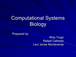 Computational Systems Biology PPT