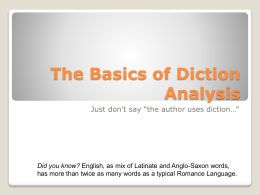 Diction Analysis