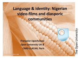 Language & identity: Nigerian video