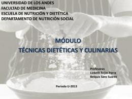 UNIVERSIDAD DE LOS ANDES FACULTAD DE MEDICINA …