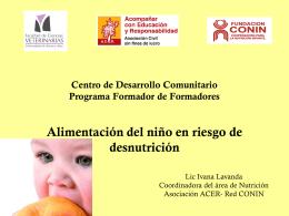 Centro de Desarrollo Comunitario Programa Formador de