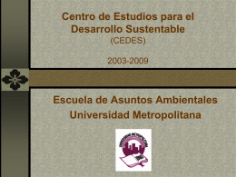 Centro de Estudios para el Desarrollo Sustantable