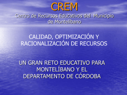 CREM Centro de Recursos Educativos Municipales