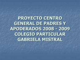 PROYECTO CENTRO GENERAL DE PADRES Y …