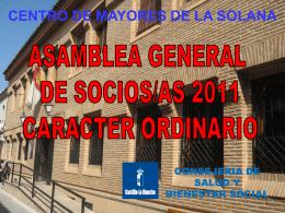 Diapositiva 1 - CENTRO DE MAYORES DE LA SOLANA