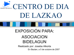CENTRO DE DIA DE LAZKAO