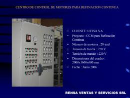 CENTRO DE CONTROL DE MOTORES (ARRANQUE Y …