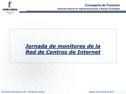 Jornada de monitores de la Red de Centros de Internet