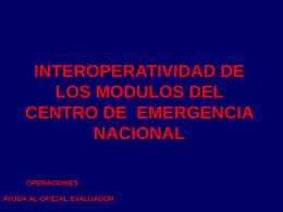 INTEROPERATIVIDAD DE LOS MODULOS DEL CENTRO DE …