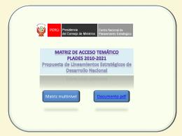 Diapositiva 1 - CEPLAN | Centro Nacional de Planeamiento