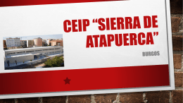 "CEIP ""Sierra de atapuerca"""