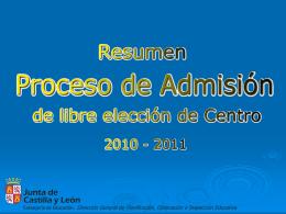 ADMISION DE ALUMNADO