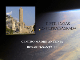 Centro Madre Antonia. Rosario. Argentina
