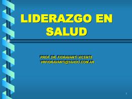 LIDERAZGO EN SALUD - UCA Pontificia Universidad …