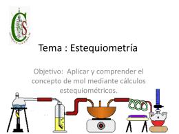 Tema : estequiometria