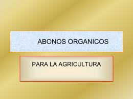 ABONOS ORGANICOS - Colprocah | Colegio de …