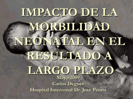 Neonatal Outcomes - Instituto Superior Juan XXIII