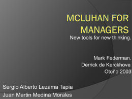 Mcluhan for managers