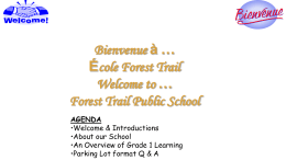 Welcome to Grade 1 - Halton District School Board