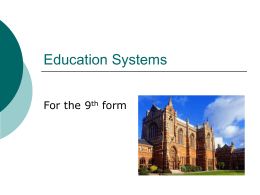 British and American Education Systems