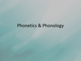 Phonetics & Phonology - Arif Awaludin's Notes