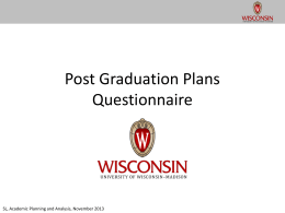 Post Graduation Plans Questionnaire