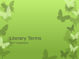 Literary Terms - Administration