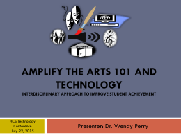 Amplify the Arts and Technology: Instructional practice