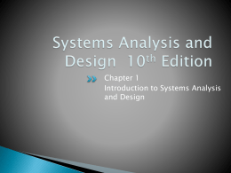 Systems Analysis and Design 10th