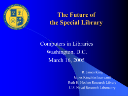 Future of the Special Library