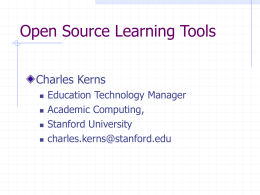 Open Source Learning Tools