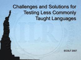 Testing Receptive Skills