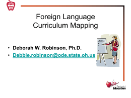 Mapping the Foreign Language Curriculum